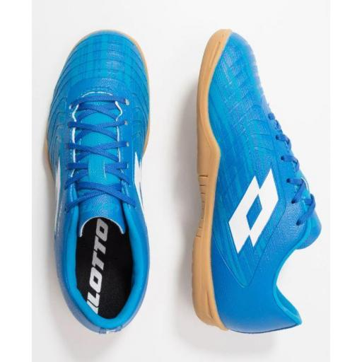 Zapatillas Fútbol Sala Junior LOTTO Solista 700 III ID JR. 211643 Blue/white. [2]