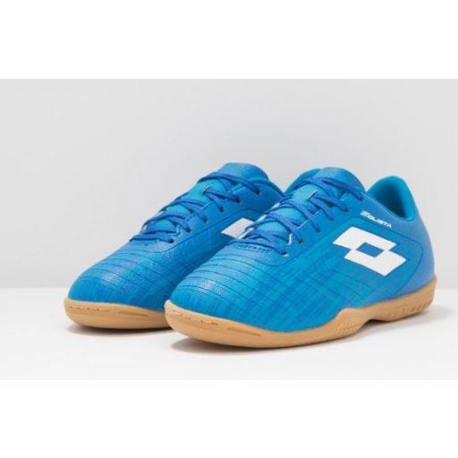 Zapatillas Fútbol Sala Junior LOTTO Solista 700 III ID JR. 211643 Blue/white. [1]