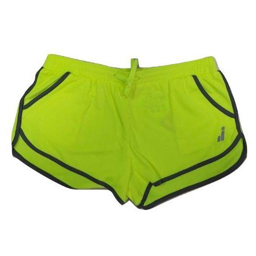 Pantalón corto Deportivo Joluvi Sprint. Amarillo Flúor. [0]