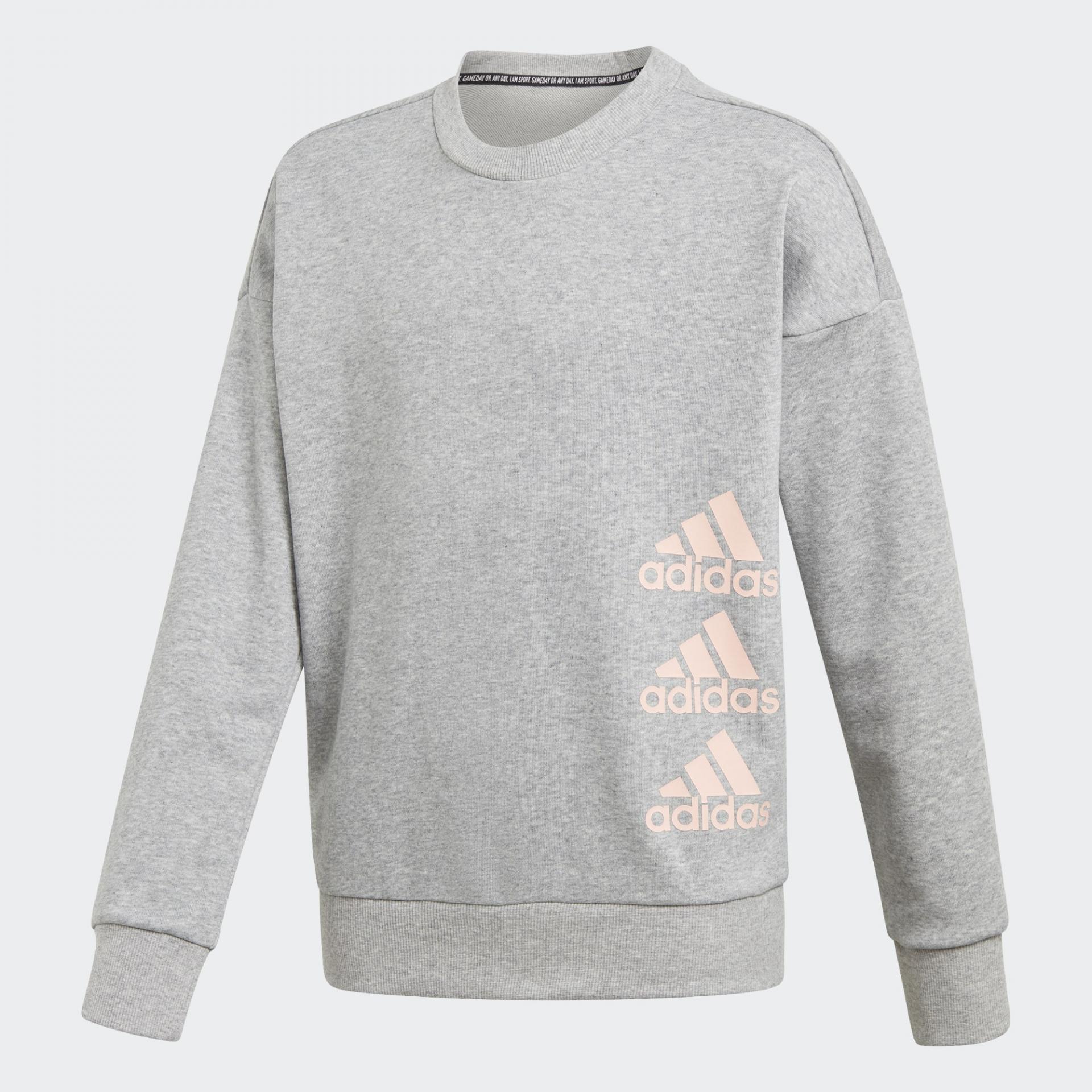 Adidas Sudadera Jg Mh Crew. GK3237 Grey/pink.