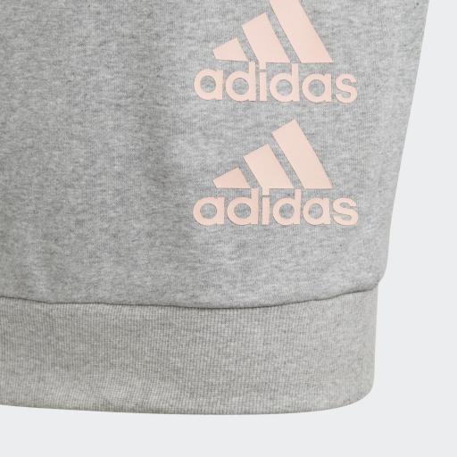 Adidas Sudadera Jg Mh Crew. GK3237 Grey/pink. [2]