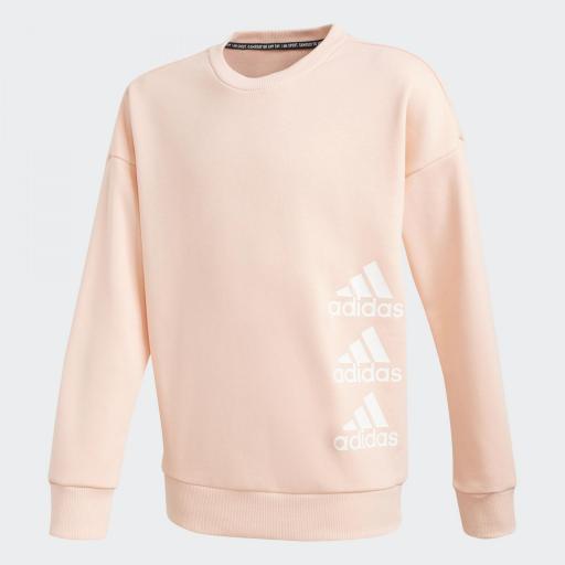 Adidas JG MH Crew. GE0964 Pink/white.