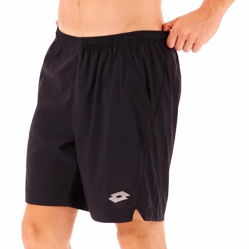 """Pantalón corto hombre Lotto Tennis Tech short 9"""". 211246 black. [0]"""
