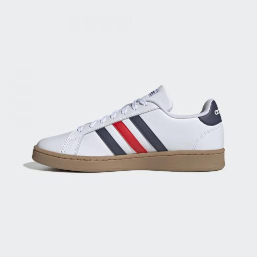 Zapatilla Casual Adidas Grand Court. EE7888. White/blue/red. [2]