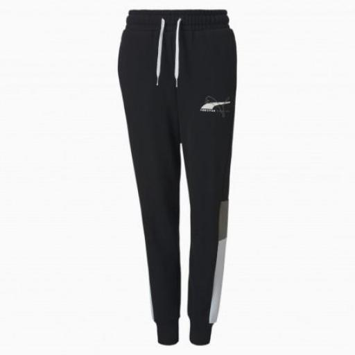 Pantalones de chándal Alpha de punto para jóvenes PUMA 583200 01