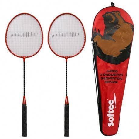 juego de dos raquetas badminton senior