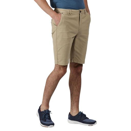 Salvator Casual Chino Shorts Oat Hombres