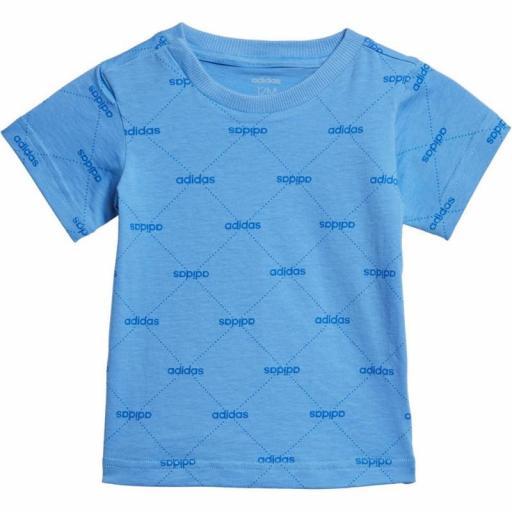 Camiseta Bebé Adidas Linear Graphic. EI7942 Realblue/blue