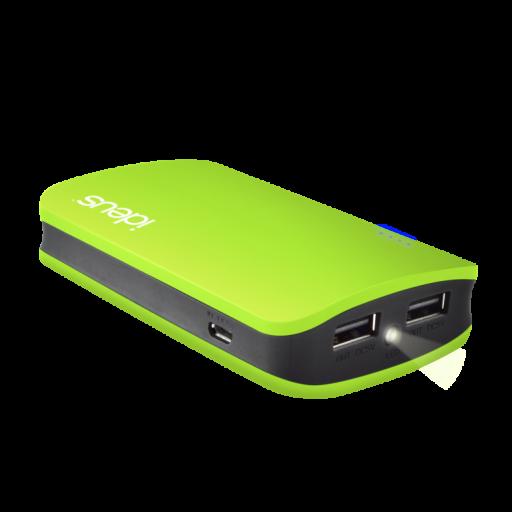 Batería externa 6600 mAh engomada verde [1]