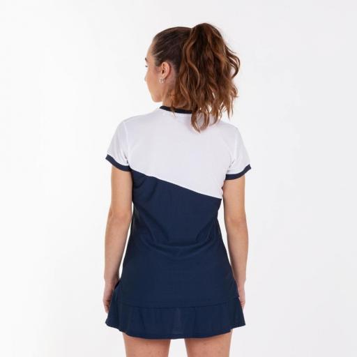 Polo Tenis/Pádel Mujer Joma Misiego. White/Navy 900976.203 [1]
