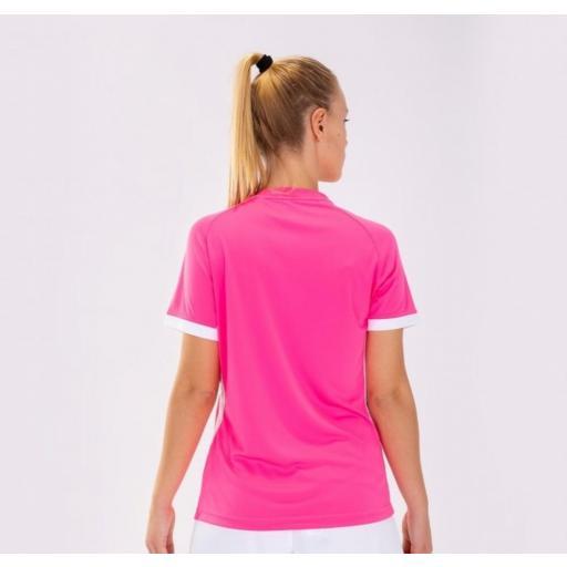 Camiseta Deportiva Mujer Joma Supernova II. 901066.030. Flúor pink-white. [1]