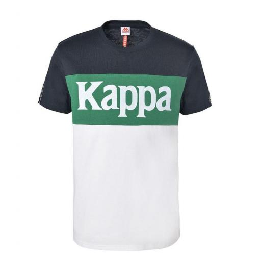 Camiseta Manga corta Kappa Irwing Tee. 3112DKW. Blue navy-green-white.