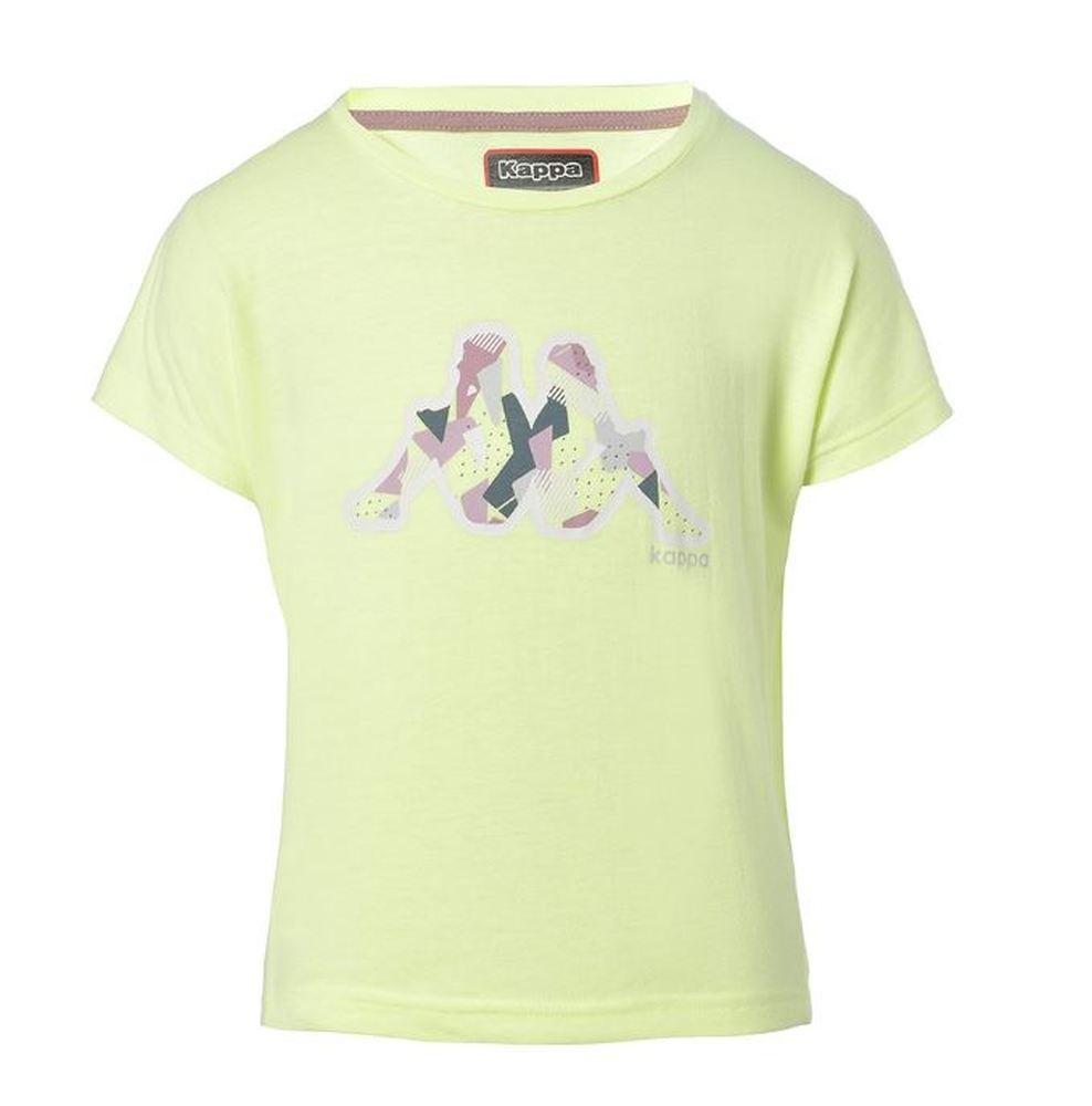 Camiseta Manga Corta Niña Kappa Quiss. 31124RW. Green/pink.