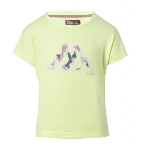 Pantalones Shorts Niña Kappa Qualix. 311246W. Pink-white-green. [3]