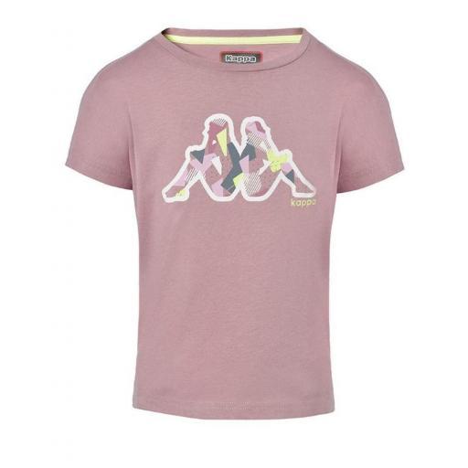 Pantalones Shorts Niña Kappa Qualix. 311246W. Pink-white-green. [2]