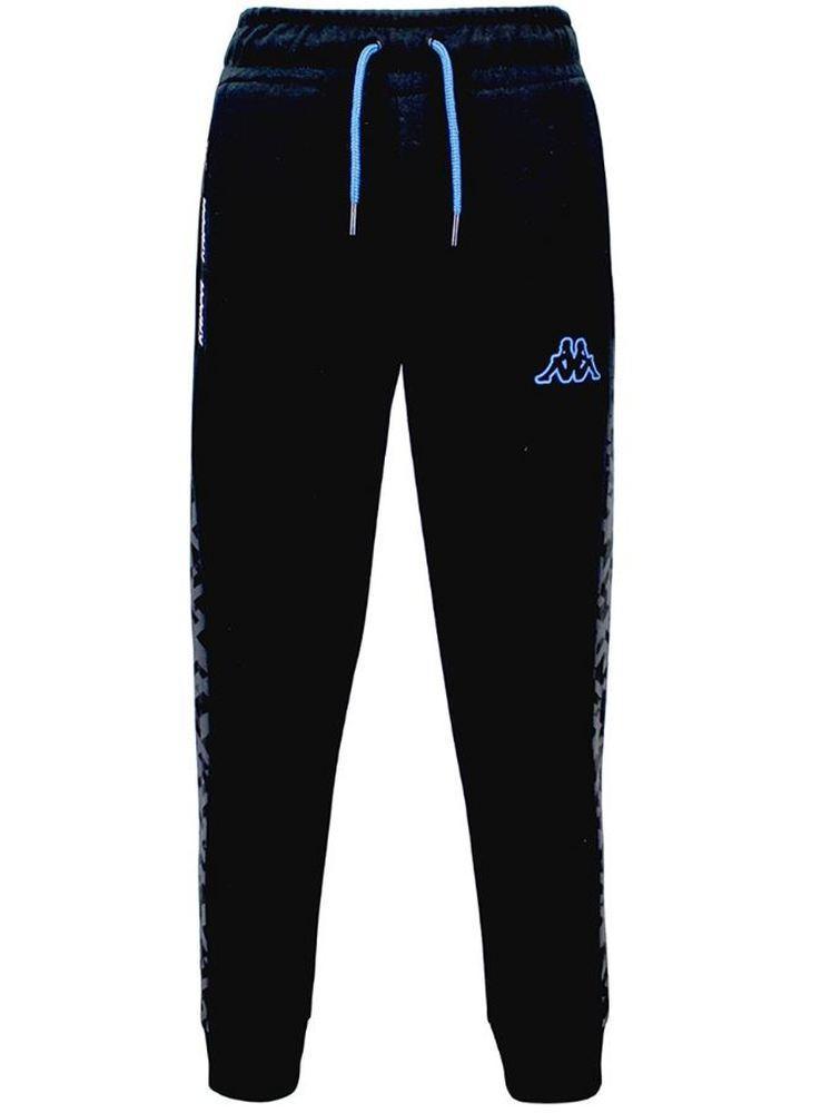 Pantalones Largos Chándal Niño Kappa Keny. 31124QW Black-blue