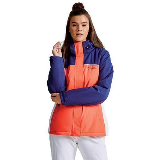 Chaqueta Ski Mujer DARE2B Ingress DWP364. Coral-blanco.