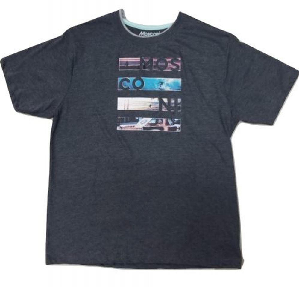Camiseta Deportiva Mosconi Sut. Negro-vigoré. 235114