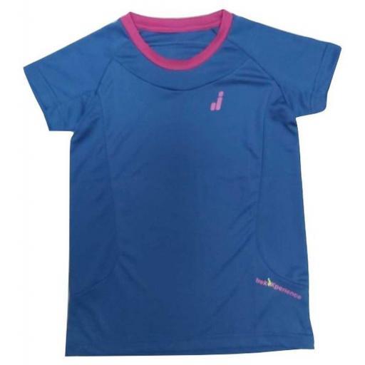 Camiseta Técnica Joluvi Bianca. 234729 Azul-Orquidea.