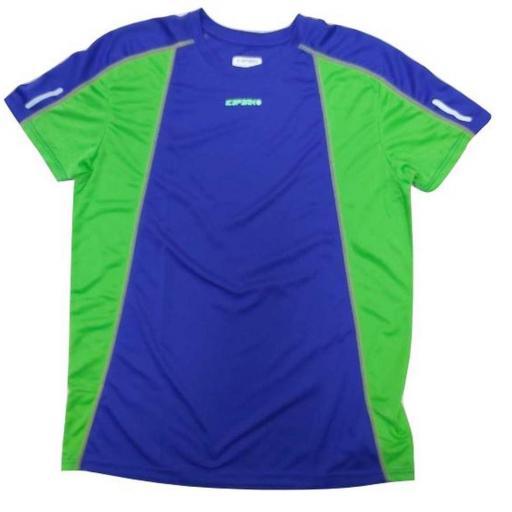 Camiseta Técnica deportiva Icepeak Lino. Azul-verde.