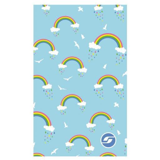 Toalla Microfibra Rainbow Ligt Blue Jr. 80cm. x 130cm.