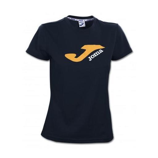 Camiseta Manga Corta Joma Campus Mujer. 2101.33.2033 Negro [0]