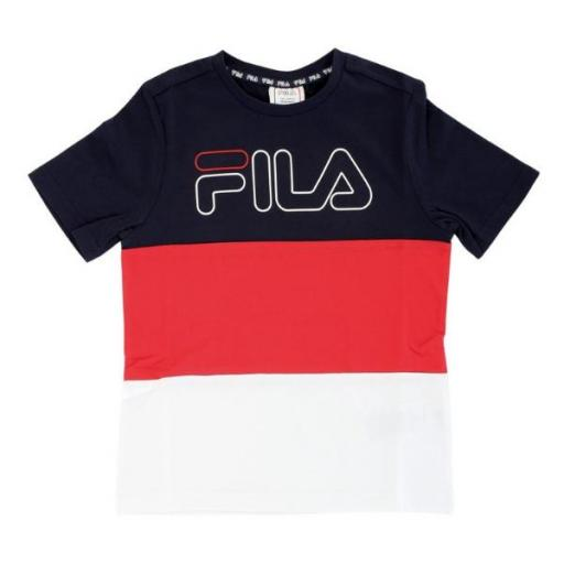 Fila Teens Boys Morelli Blocked Tee. Red-bright-white. 683352
