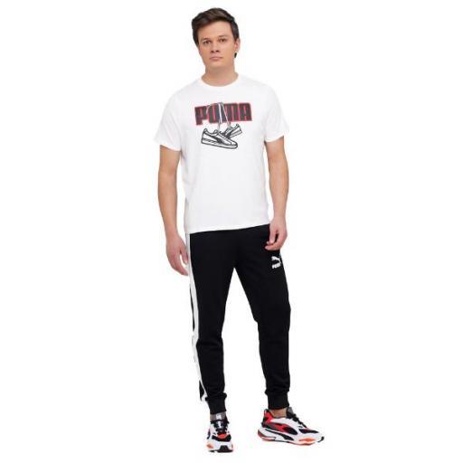 PUMA Sneaker Inspired Tee. White. 587767. Camiseta Hombre. [1]