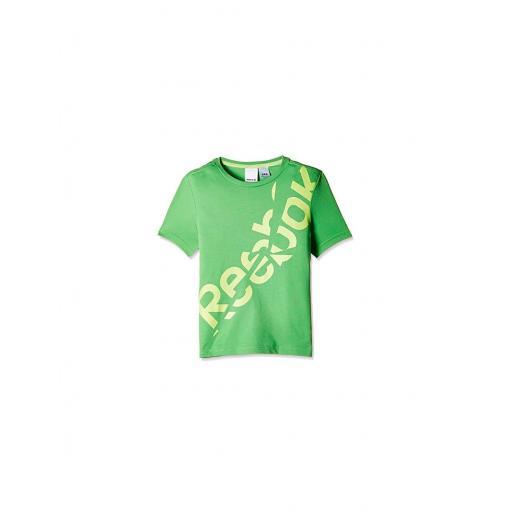 Camiseta manga corta para niño Reebok B Es BLT. AK0309. Verde