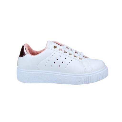 Zapatillas Casual Mujer J´hayber Chetero . White-pink. ZS581001