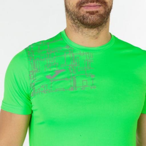 JOMA Elite VIII Short Sleeve Camiseta Hombre. Flúor green. 102242.020 [1]