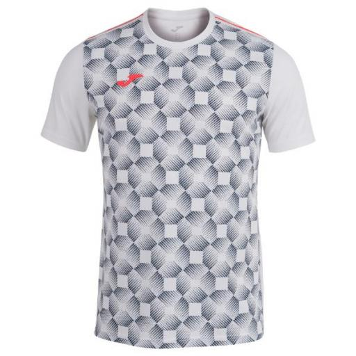 JOMA Open III Short Sleeve. White. 102251.200. Camiseta Hombre.