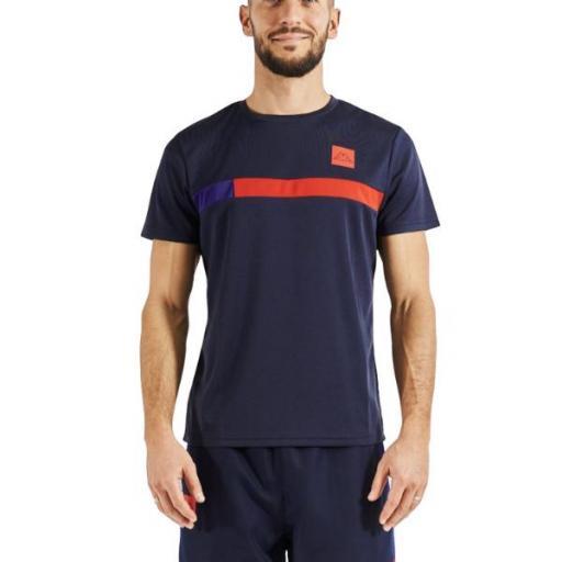 KAPPA Imperio. 311B2UW. Navy/red. Camiseta Hombre.