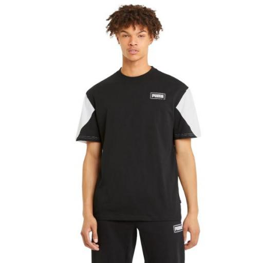 PUMA Rebel Advanced Tee. Black. 585739 01. Camiseta Hombre