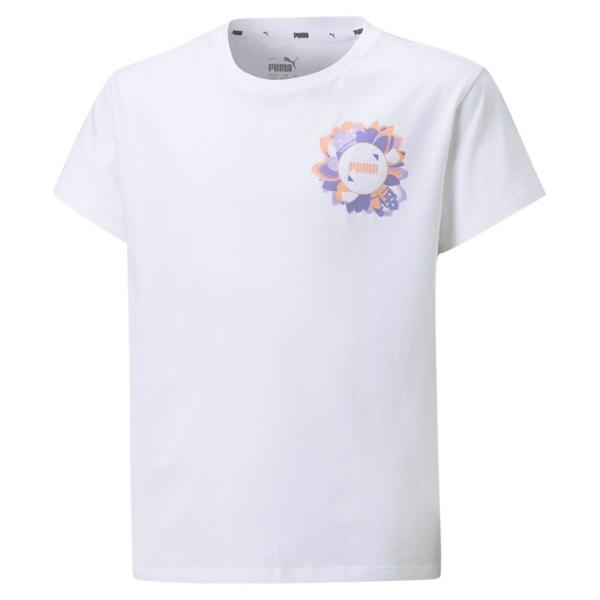 PUMA Alpha Silhouette Tee. 586181 White. Camiseta Niña.