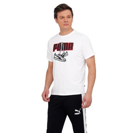 PUMA Sneaker Inspired Tee. White. 587767. Camiseta Hombre. [2]