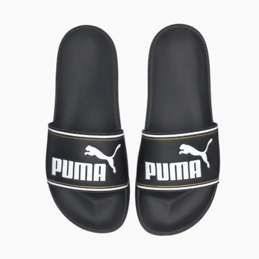 PUMA Leadcat FTR. Black-Gold. 372276 01. Chanclas Hombre.