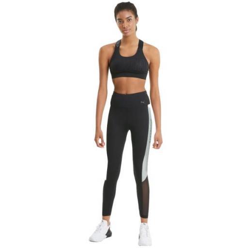 PUMA Mallas de entrenamiento 7/8 mujer Logo Block. Black/white. 520290 01. [2]