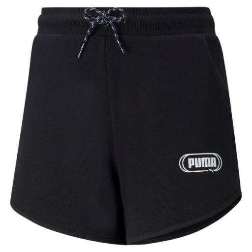 PUMA Rebel Shorts Junior. Black 586159 01. Pantalón corto Niña.