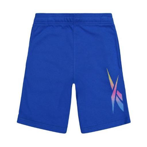 REEBOK Short. Royal Blue EX7624. Pantalón corto niño.