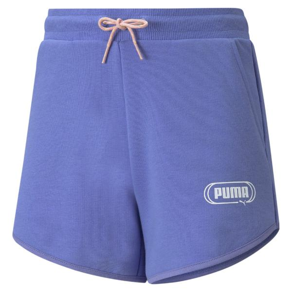 PUMA Rebel Shorts. Hazy blue. 586159. Pantalón corto niña.