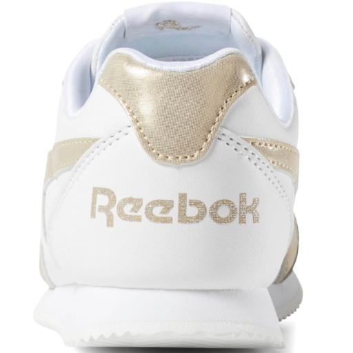Zapatilla moda niña Reebok Royal Cl Jog 2 kids. DV6947. Blanco/oro [3]