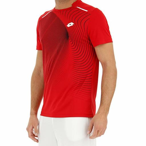 Camiseta Lotto Superrapida II Tee. Red. 210574