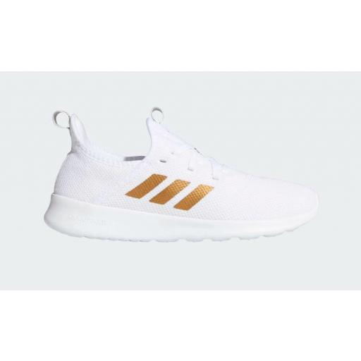 Zapatillas Running Mujer Adidas Cloudfoam Pure. White/gold. EG3821