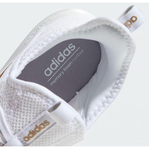Zapatillas Running Mujer Adidas Cloudfoam Pure. White/gold. EG3821 [2]