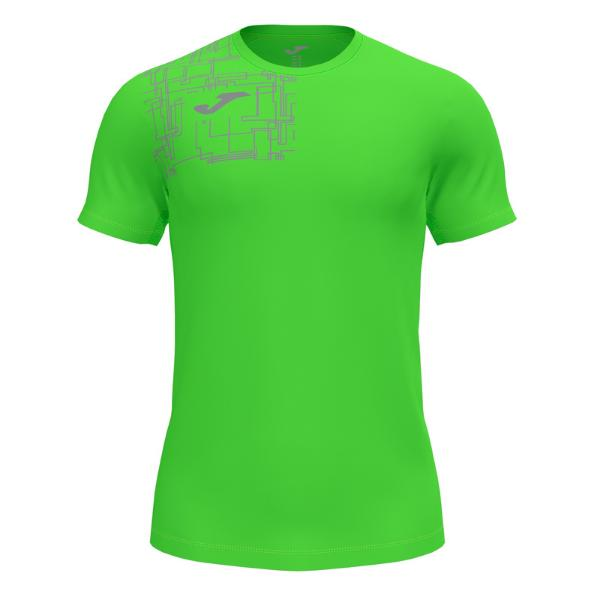 JOMA Elite VIII Short Sleeve Camiseta Hombre. Flúor green. 102242.020
