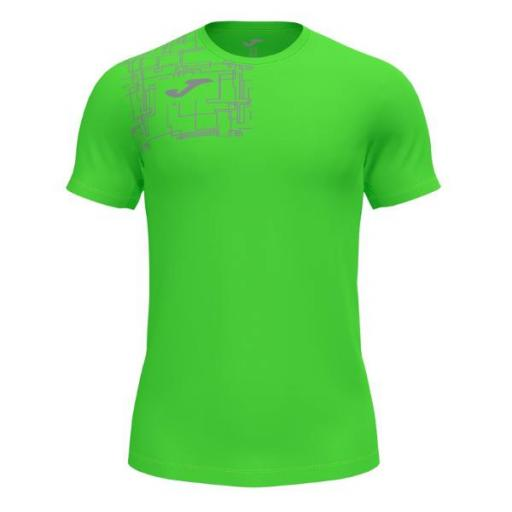 JOMA Elite VIII Short Sleeve Camiseta Hombre. Flúor green. 102242.020
