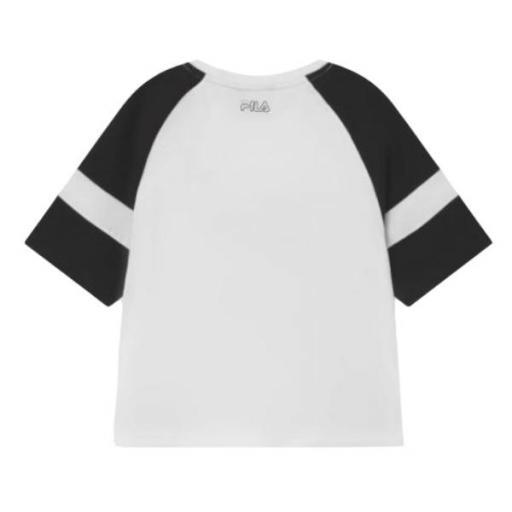 Fila JULITA CROPPED - Camiseta estampada. White/black. 960692 [1]