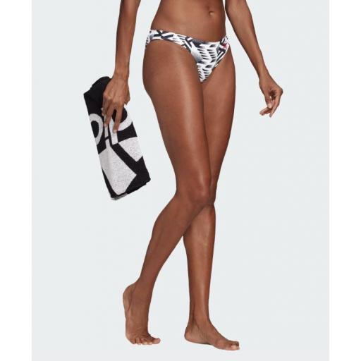 Braguita de Bikini Adidas SH3.ro Hip Bot. FJ5051. White/black.