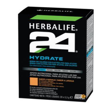 Hydrate Bebida con electrolítos. Naranja. 20 uds